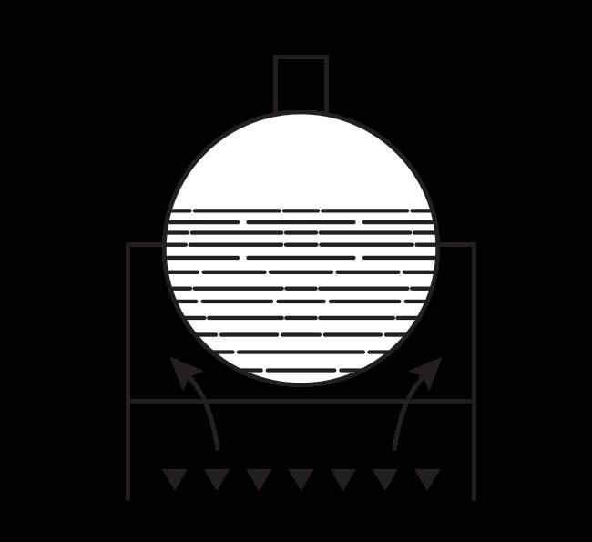 Схема первого парового котла с внешней топкой