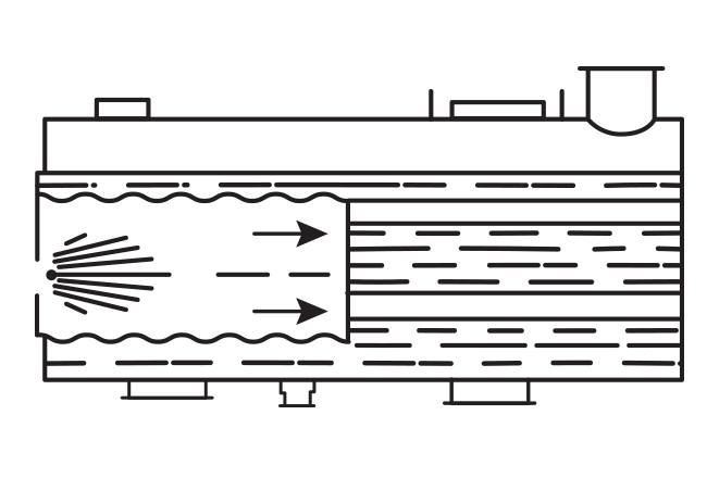 Схема первого жаротрубно-дымогарного котла